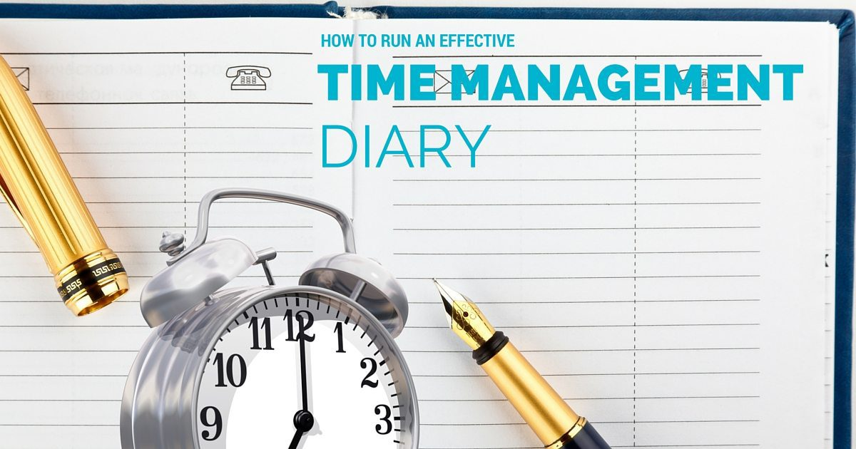 How to run an effective time management diary