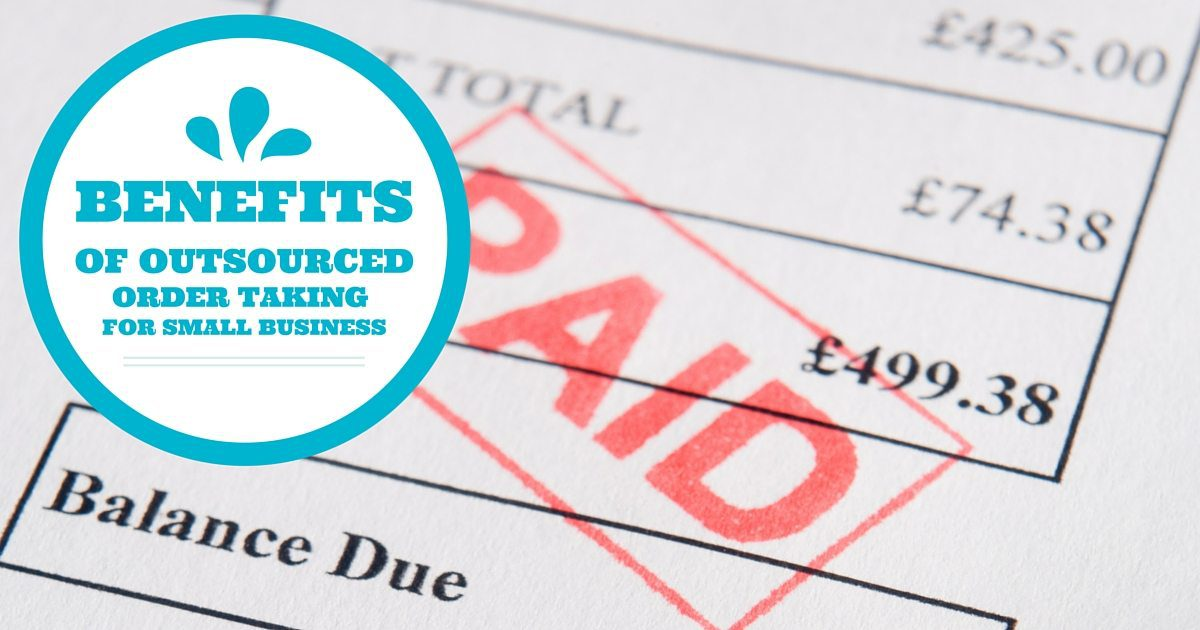 Benefits of outsourced order taking for small businesses | © Oneresource