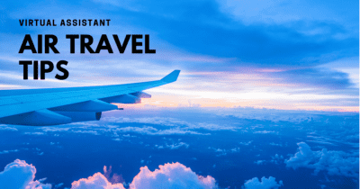 Air travel tips from a travel planning virtual assistant